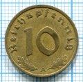 10 ПФЕННИГОВ 1937 А ГЕРМАНИЯ (ЛОТ №67)
